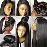 Lace Front Human Hair Wigs for Women with Baby Hair - 130% Density Silky Straight Human Hair Wigs Lace Front Wig Glueless Lace Front Wigs Human Hair Wigs 14
