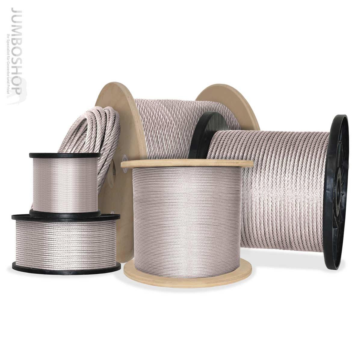 JumboShop 50m 8mm TOP ANGEBOT DRAHTSEIL verzinkt DIN Stahlseil Forstseil Windenseil Seil Draht Stahl  BaumarktKundenbewertung und weitere Informationen
