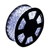 Ainfox LED Rope Light, 150Ft 1620 LEDs Indoor Outdoor Waterproof LED Strip Lights Decorative Lighting (Cool White) (Color: Cold White, Tamaño: 150FT)