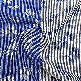 【延長可能】 桜 柄 ダブルガーゼ 先染め ウォッシュ カットクロス 播州織 114cm幅 綿100%