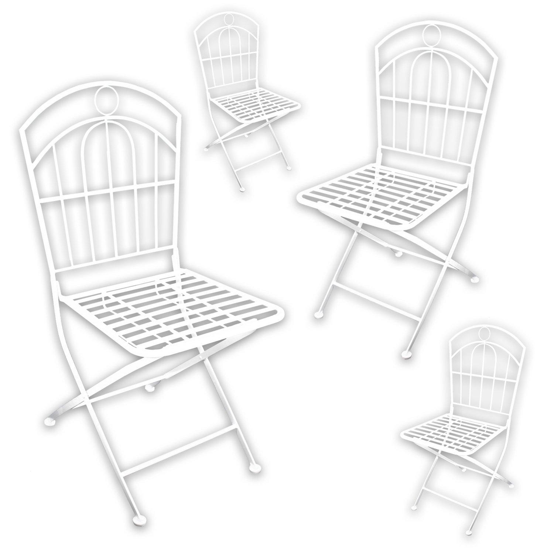 """4x Metall Gartenstuhl """"White Spirit"""" in weiß lackiert für indoor und outdoor kaufen"""