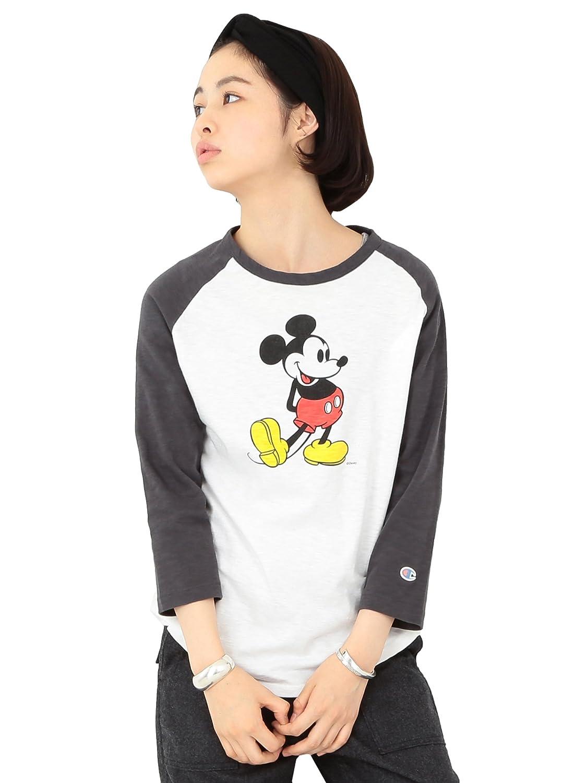 Amazon.co.jp: (ビームスボーイ) BEAMS BOY CHAMPION×BEAMS BOY / ラグランTシャツ 七分袖 (Mickey Mouse) 13140164411 ホワイト SMALL: 服&ファッション小物