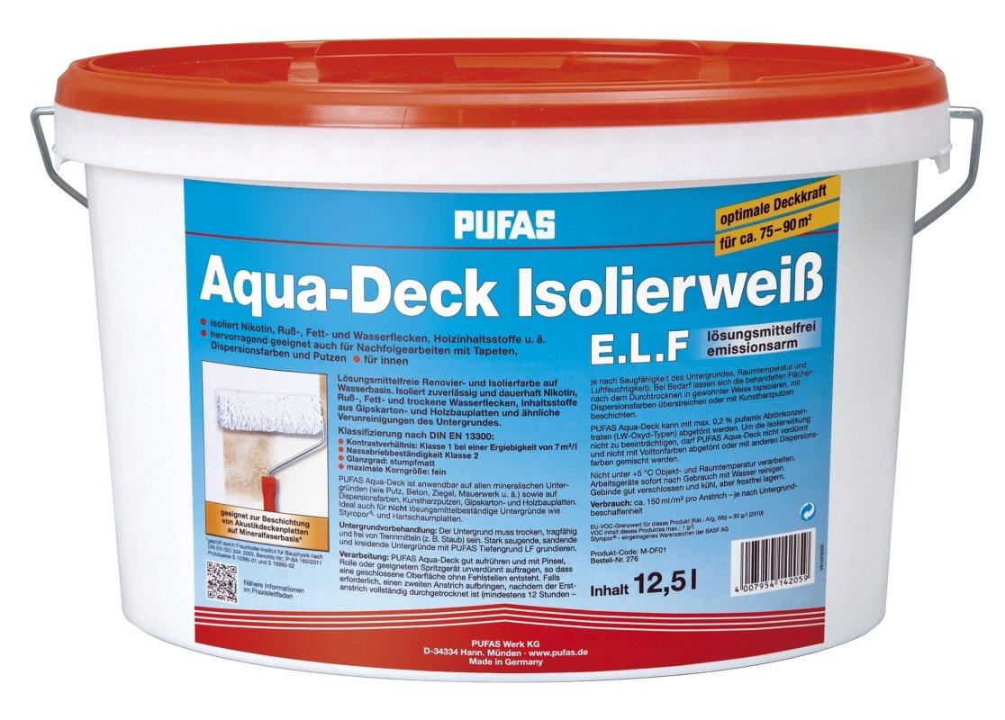 Pufas AquaDeck Isolierweiß E.L.F. 12,5L Isolierfarbe  GartenÜberprüfung und Beschreibung