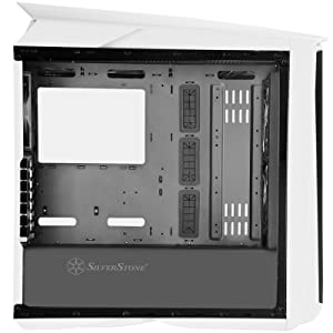 SilverStone Technology ATX Gaming Computer Case with RGB Lighting and Tempered Glass in White SST-PM01W-RGB-USA
