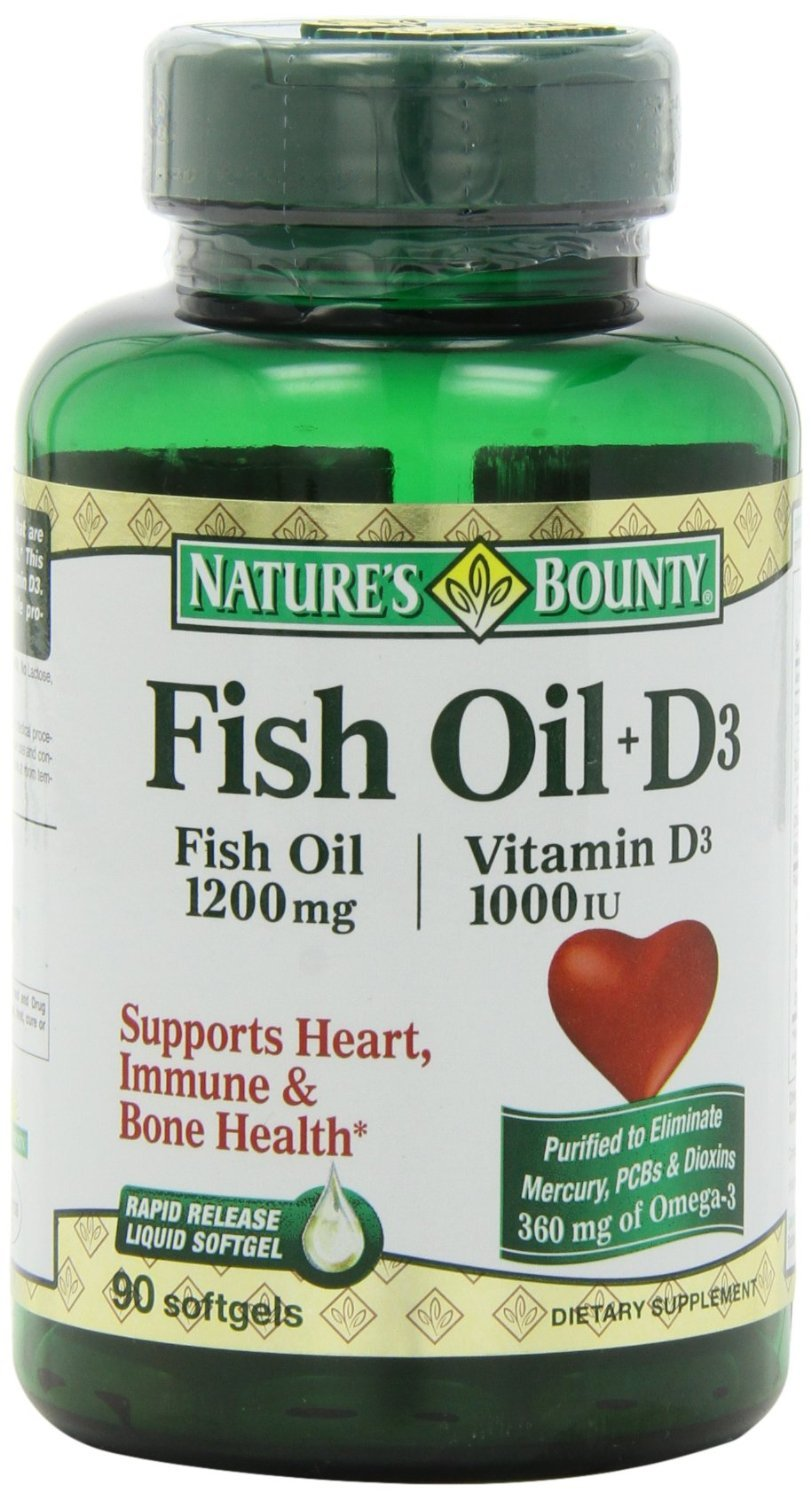 Nature 39 s bounty omega 3 d3 fish oil 1200 mg for Nature s bounty fish oil 1200 mg