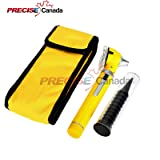 FIBER OPTIC MINI OTOSCOPE SET - DIAGNOSTIC EXAMINATION SET - POCKET SIZE - (YELLOW)