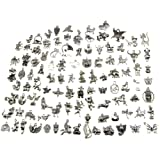 Animal Charms, Buytra Wholesale Bulk 100 Pack Mixed Tibetan Pendant Charms for Jewelry Making Bracelet Necklace DIY Crafts