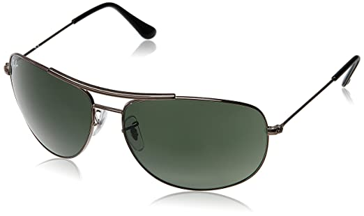 ray ban glasses aviator sunglasses  Ray-Ban Aviator Sunglasses (Green) (RB3412 004 63 15): Amazon.in ...