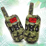 Kids Walkie Talkies, Boy Toys Handheld Walkie Talkies with Flash Light 4 Miles 22 Channel 2 Way Radio kids Christmas Gifts 5-year old Boys and Girls Perfect for Outdoor Games Camping Hiking