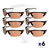 Edge Eyewear TSDK215 Khor Safety Glasses, Black with Polarized Copper