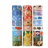 Washi Tape Set of 50 Rolls,Decorative Washi Masking Tape Set for DIY Crafts and Gift Wrapping (Color: color)
