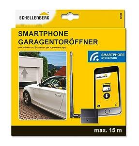 Schellenberg 60999, Garagentoröffner mit Außentoröffner für Smartphone FunkEmpfangsModul und kostenlose App, schwarz  BaumarktBewertungen