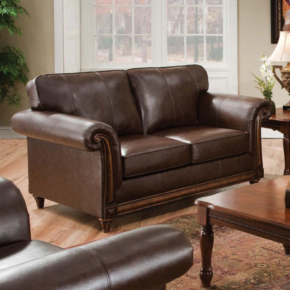 Simmons Coffee Solid Leather Upholstery Collection