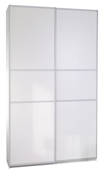Furniture To Go Designer Sliding Door Robe, 220 x 120 x 64 cm, White