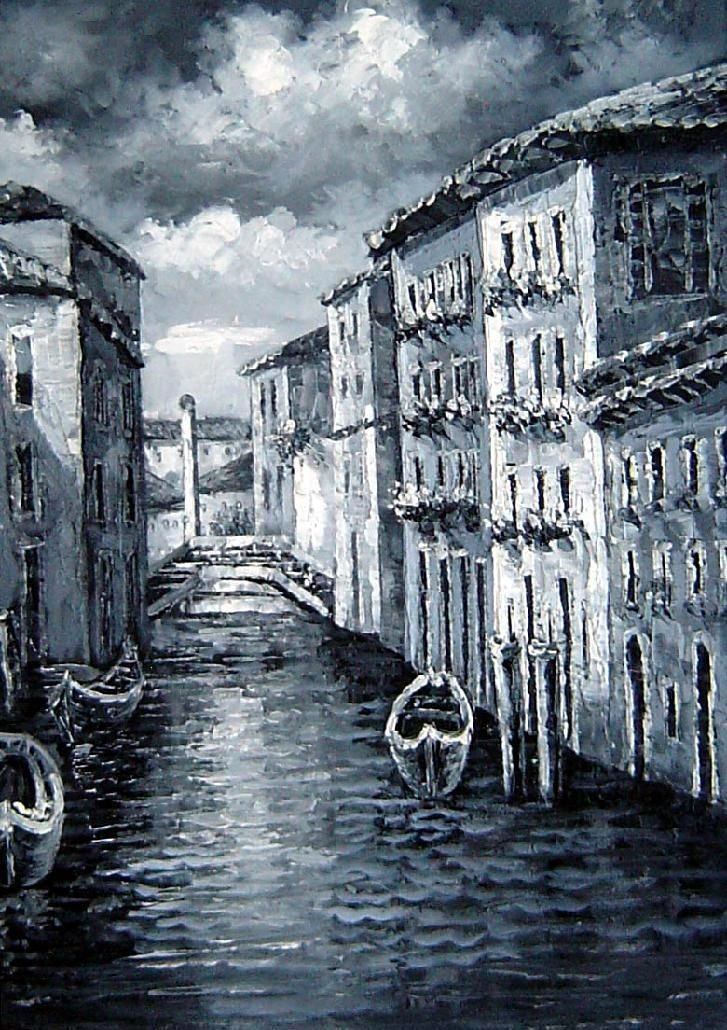 quiet-venice-canal-24x16-inch-unstretchedunframed-beyonddream-oil-painting