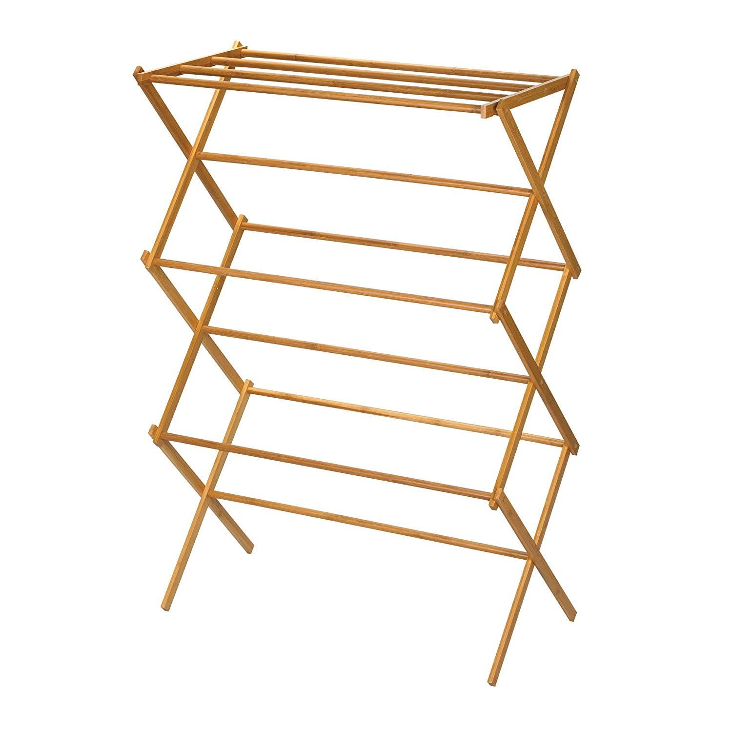 wooden clothes drying rack hanger folding vintage classic