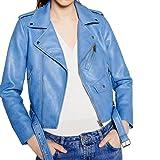 Women's Faux Leather Jacket,Toponly Fall Women Ladies Faux Leather Racing Style Biker Jacket (Blue, XXXL)