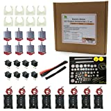 Pica Toys DC motor with battery holder DIY project accessories x 8 sets for science projects STEM Kit (Color: Black and Red, Tamaño: 8 Sets)