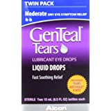 GenTeal Tears Lubricant Eye Drops, Moderate Liquid Drops, Twin Pack, 15-mL Each