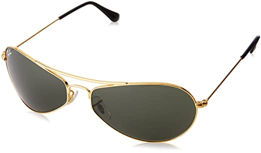 ray ban gold  Ray-Ban Oval Sunglasses (Gold) (0RB3306I00160): Amazon.in ...