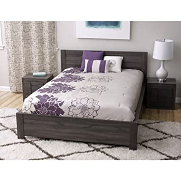 Simple Living Maya Modern Contemporary Master Bedroom Set with Queen-sized Bed and Two Nightstands