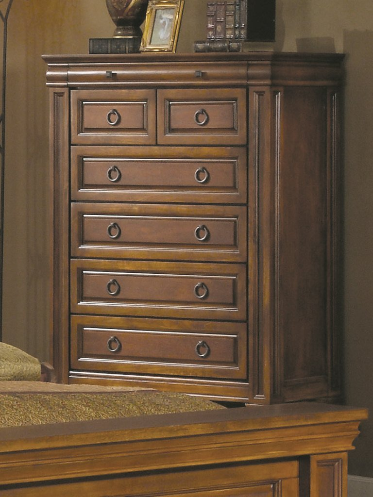 Solid Wood Rich Finish Dresser Chest