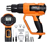 Heat Gun, Tacklife HGP72AC 1700W Heavy Duty Hot Air Gun with Large LCD Display, Variable Temp Memory Settings and Wind Speed Adjustment, 120V 60HzElectric Heat Gun for Stripping Paint, Warming Pipes (Tamaño: HGP72AC)
