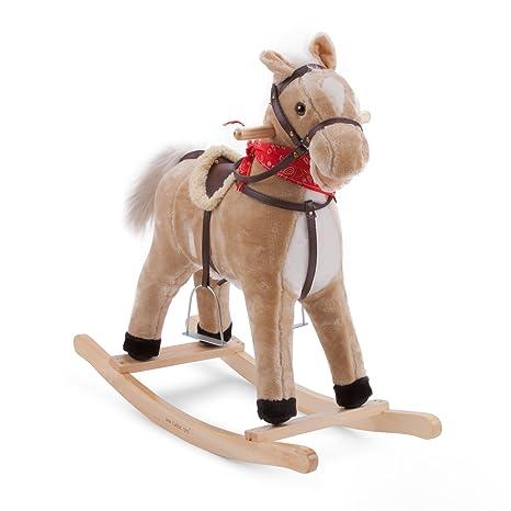 New Classic Toys - 11141 - Cheval À Bascule - Marron Clair