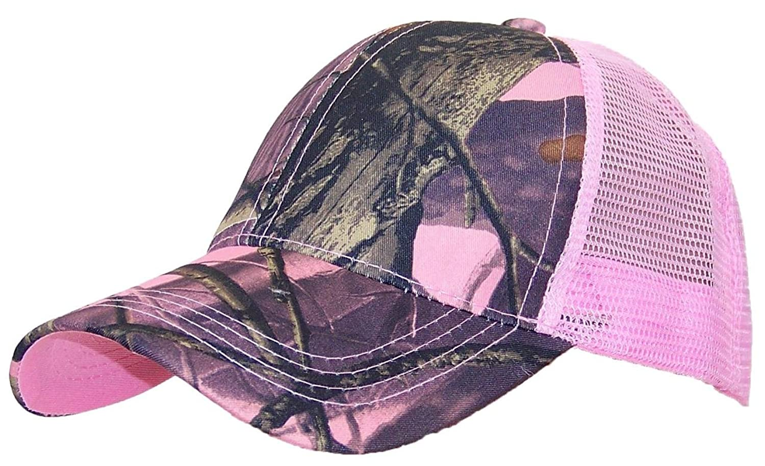 Tropic Hats Mesh Cap W/Camouflage Front and Visor Adjustable (One Size) hawaiian tropic spf20 blingbling