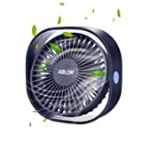 Ablon Small Fan,3 Speed Personal Desk Portable Mini Table Fans with USB Powered, Quiet Fan for Home,Office,Outdoor Travel(Navy Blue)
