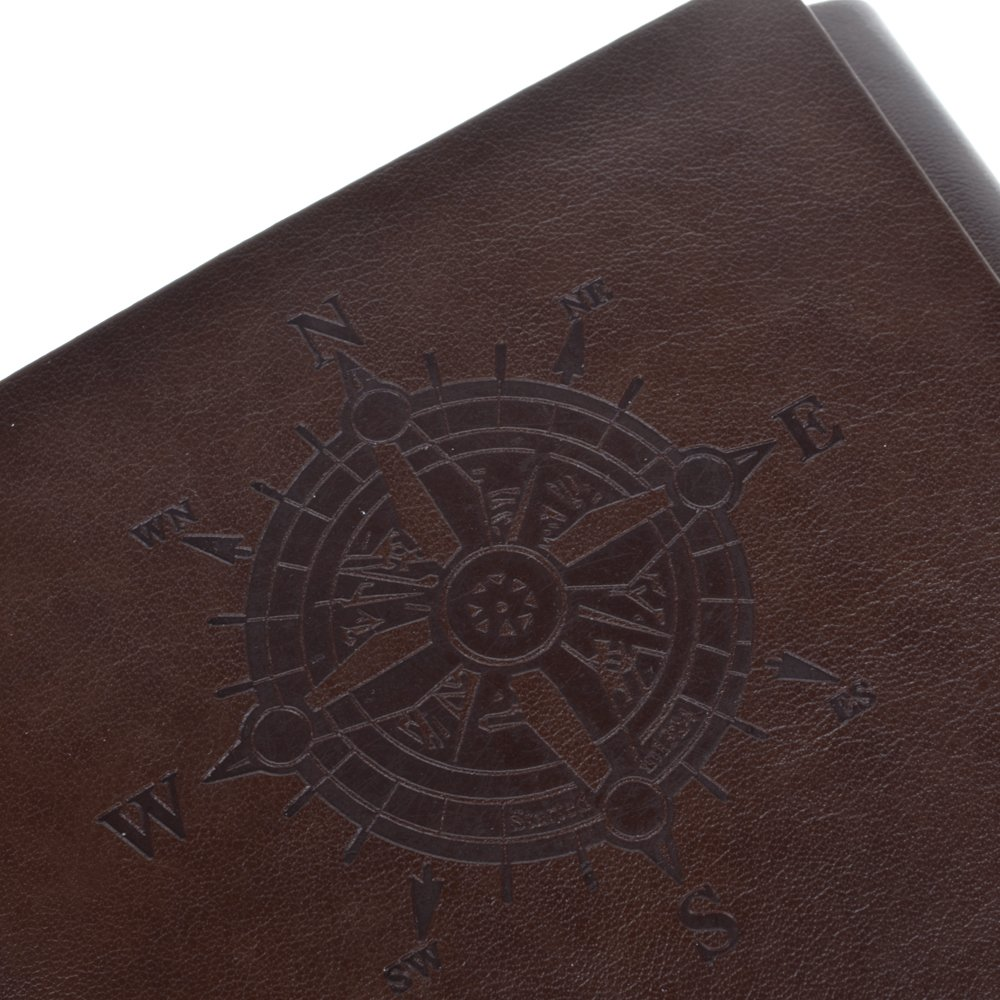 Cosmos Vintage Classic PU Leather Notebook for Diary, Travel journal and Note, Dark Brown (NB2) 6