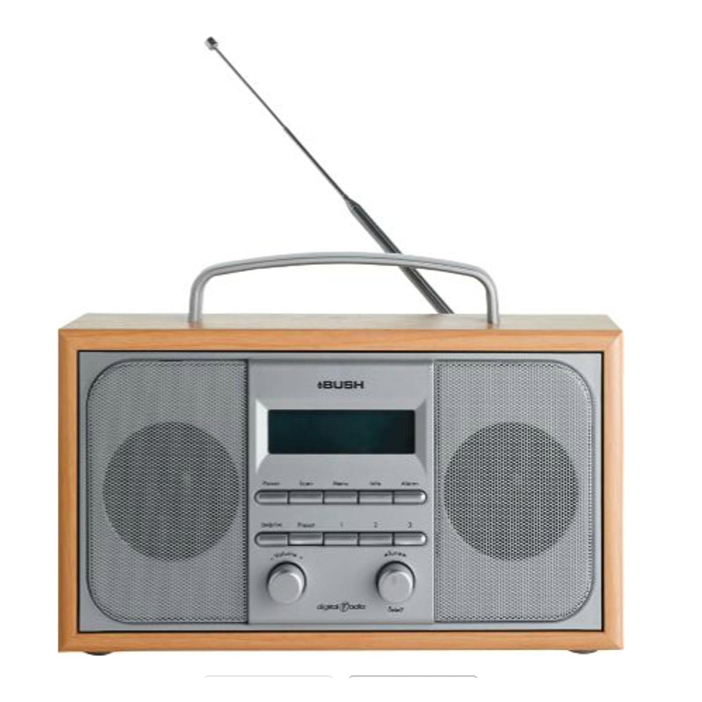bush arden dab fm stereo radio alarm clock wooden case ebay. Black Bedroom Furniture Sets. Home Design Ideas