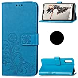 Huawei P20Lite/Nova3e Case, Very Light Slim Art Grass Deisgn Soft Wallet Stand Flip Cover Card Slots, WEIFA 2018 Newest Super Cool Thin Anti-Scratch CellPhone Case For Huawei P20 Lite Blue (Color: !Gblue, Tamaño: Huawei P20 Lite)