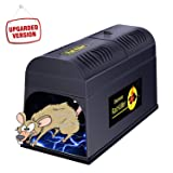 ATL LLC Electronic Rat Trap, Effective and Powerful Rat Trap Squirrels Mice and Similar Rodents Using High Voltage Humane Mouse Trap - Electric Mouse Trap Zapper with a Secure Protective Switch (Color: Black)