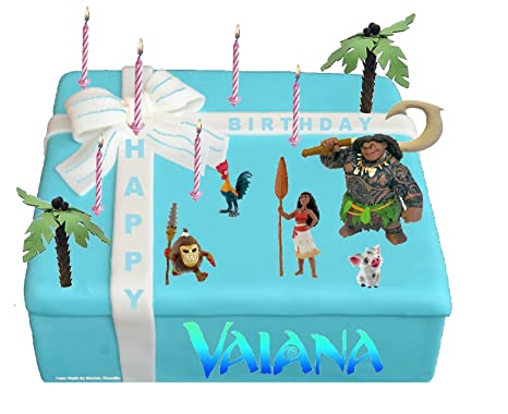 Moana Figurines Set 5 chiffres Great for Cake Decorating Vaiana Figurines by Bullyland - Vaiana gâteau déco - Moana gâteaux deco