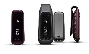 Fitbit One Wireless Activity Plus Sleep Tracker, Burgundy