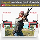 Yimaler Mobile Game Controller PUBG Upgrade Version Mechanical Fire and Aim L1R1 Trigger Buttons for PUBG Mobile Knives Out Rules of Survial (Color: red)