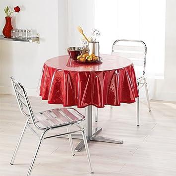 nappe transparente pour table ronde