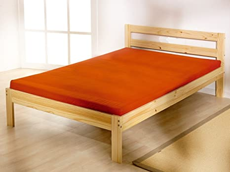 4ft 6 Double pine bed Frame with 20cm thick MEMORY FOAM mattress