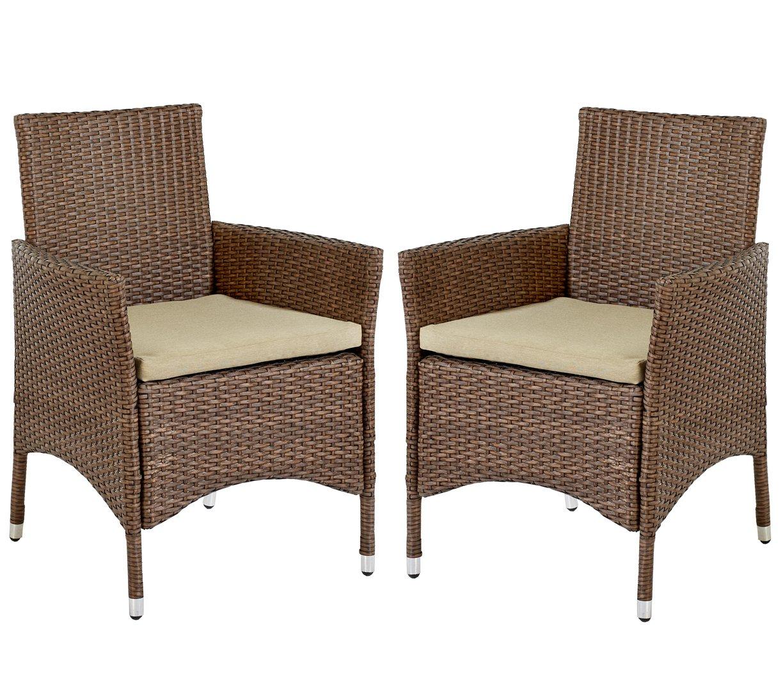 Ambientehome Polyrattan Sessel Stuhl Lubango, braun, 2-teiliges Set online kaufen