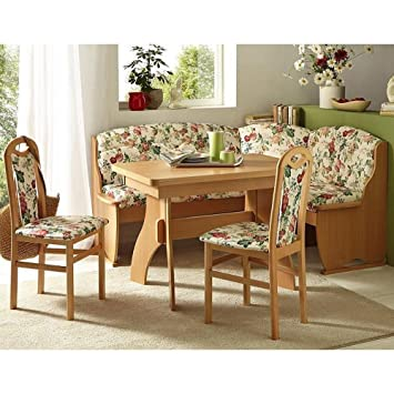 Eckbank Eckbankgruppe Essgruppe ROSA Essecke Tisch 2 Stuhle Buche Natur Dekor