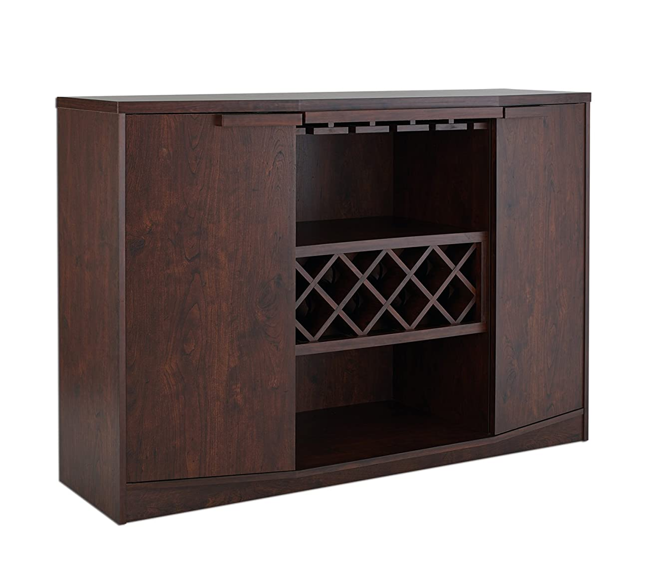 ioHOMES Annadel Wine Cabinet Buffet, Vintage Walnut 0