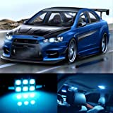 10pcs LED Premium ICE Blue Light Interior Package Deal for Mitsubishi Lancer Evo X 2008-2017