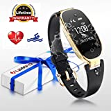 Fitness Tracker , LEMFO Heart Rate Monitor Women Swimming Waterproof Ladies Activity Tracker Smartband Sleep Monitor Pedometer Smart Bracelet Wristband (Black)