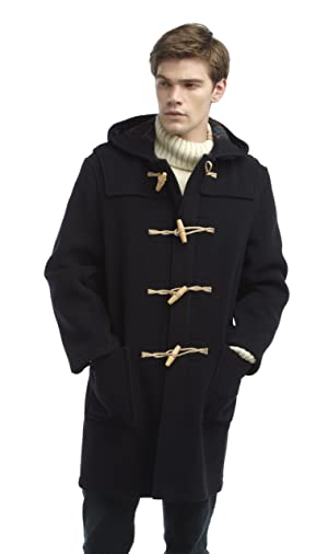 Original Montgomery Mens Wooden Toggles Duffle Coat (38, Navy)