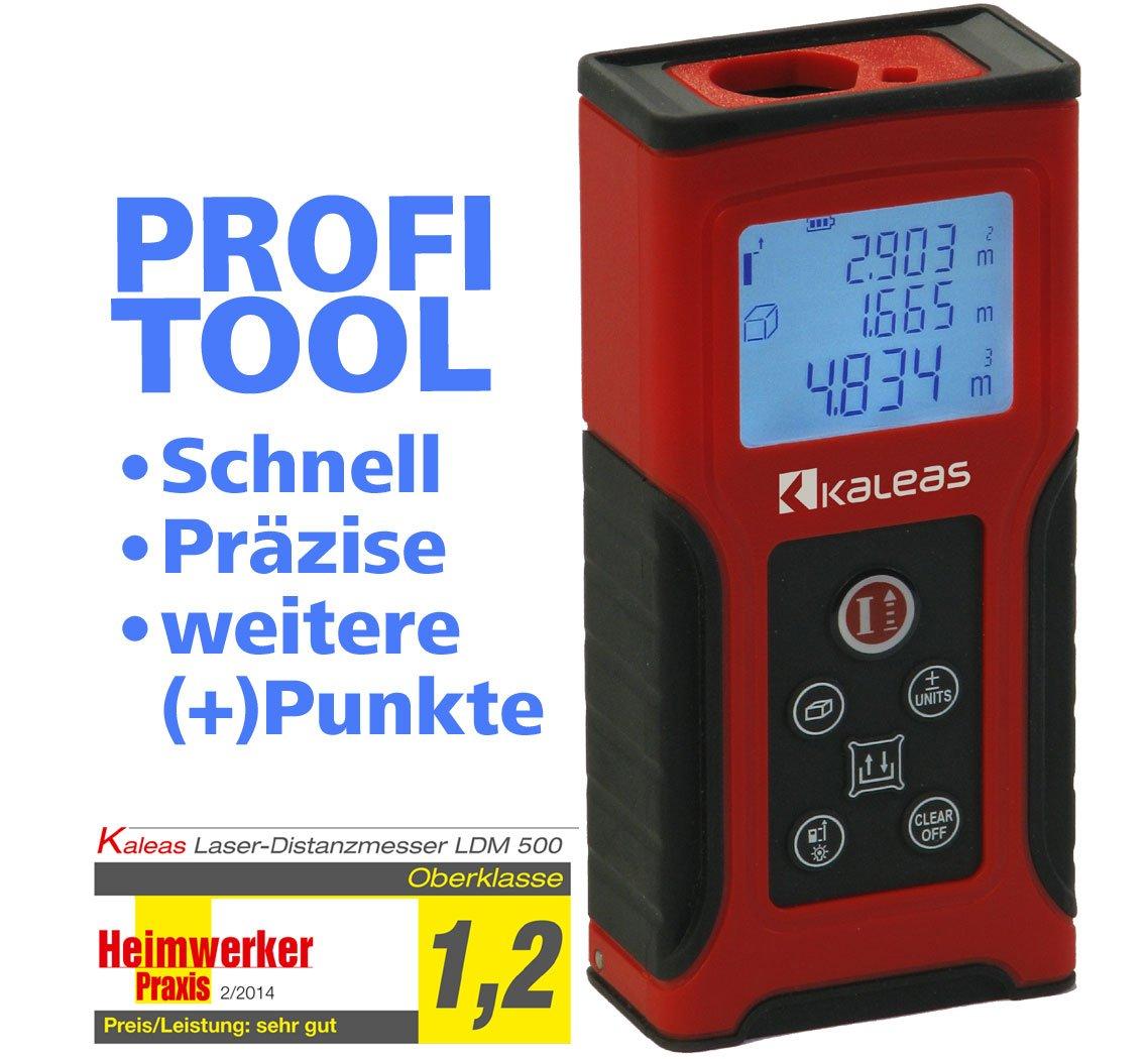 Kaleas ProfiLaserEntfernungsmesser LDM 500 für Entfernung bis 50m [Genauigkeit ±1.5mm] (34055)  BaumarktKundenbewertung und weitere Informationen