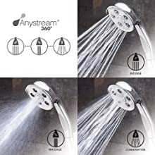 Speakman VS-3014 Caspian Anystream High Pressure Handheld Shower Head with Hose, Polished Chrome