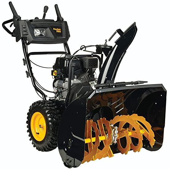 Poulan PRO PR300 Two Stage Electric Start with Power Steering Snow Thrower Review