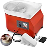 Mophorn Pottery Wheel 25cm Pottery Forming Machine with Sculpting Set Adjustable Feet Ceramic Pottery Wheel 350W Art Craft DIY Clay Tool for Ceramic Work Ceramics Clay (Color: Equip With Foot Pedal, Tamaño: 25 CM)