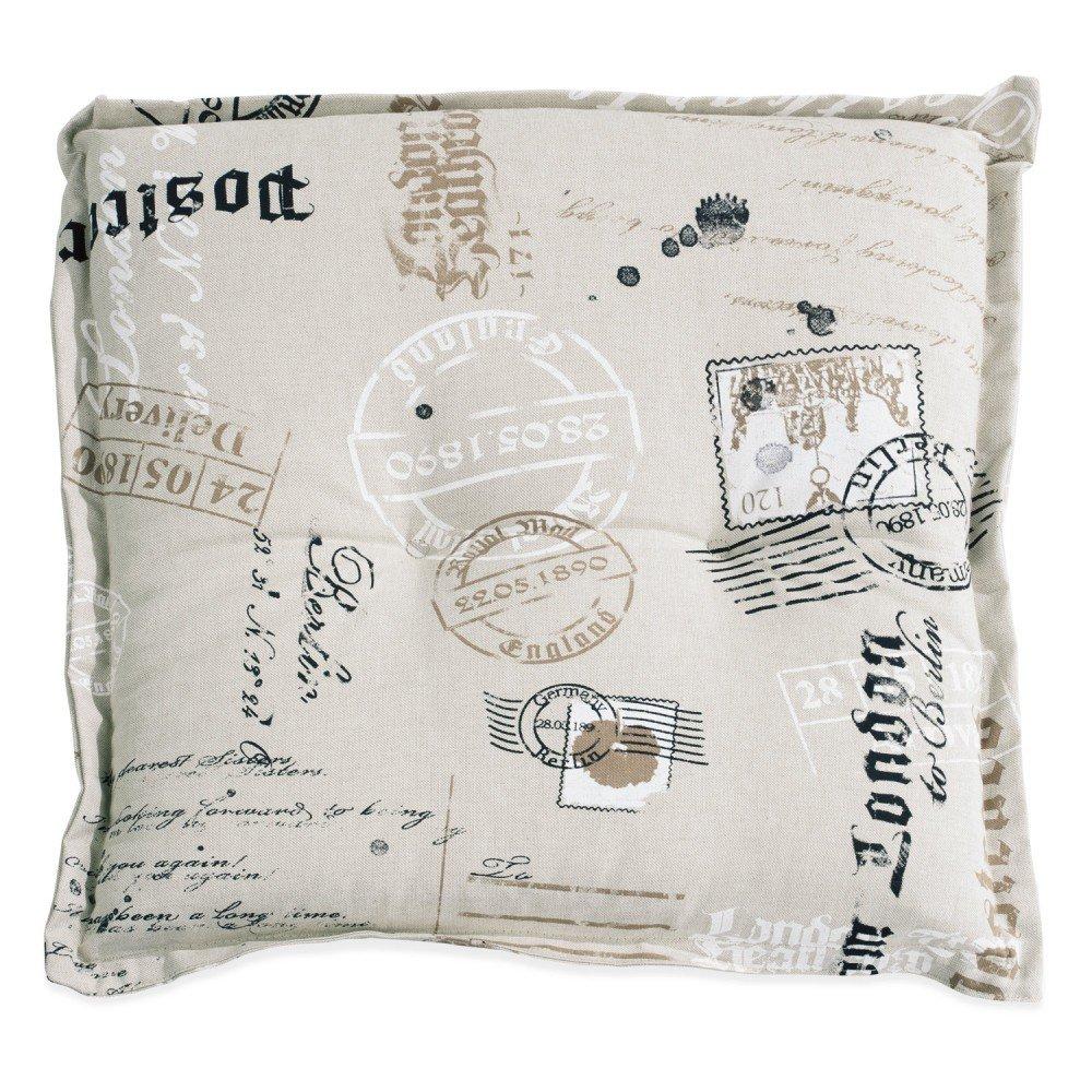 Hockerauflage Stuhlkissen sand mit Motivdruck 50 x 50 cm Stamps 2 online bestellen